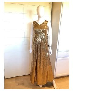 JJs House Gold Sequin Formal size 14/XXS
